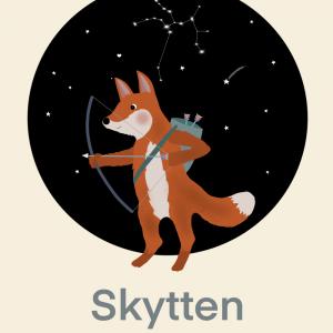 Stjernetegn skytte - Børneplakat