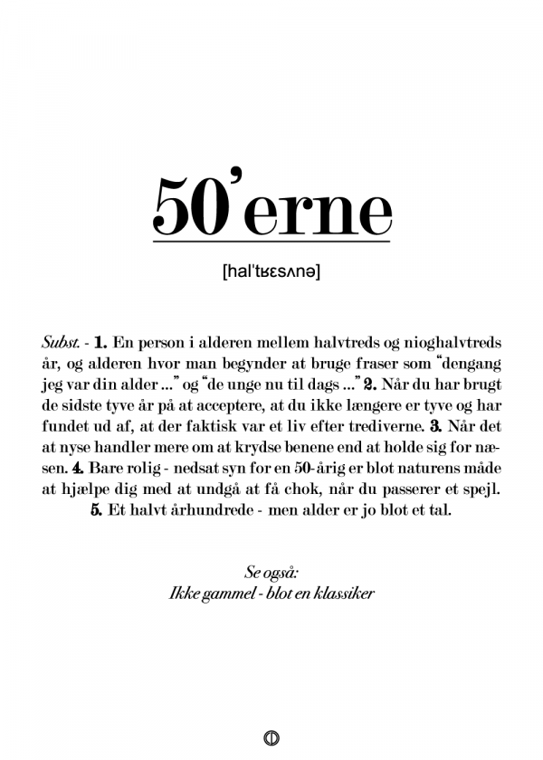 50'erne definition - plakat