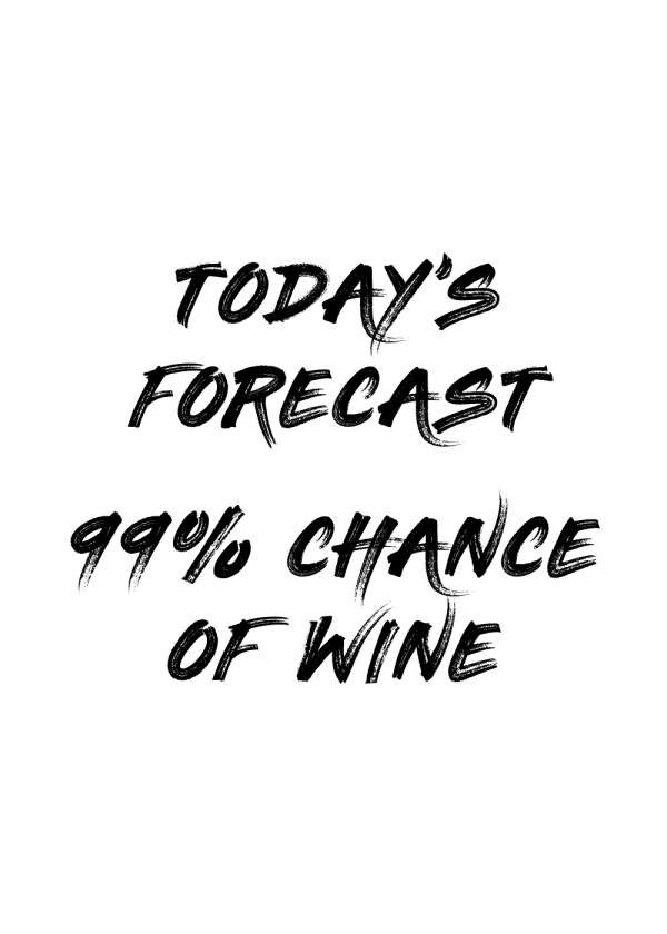 99% chance of wine - Vin plakat