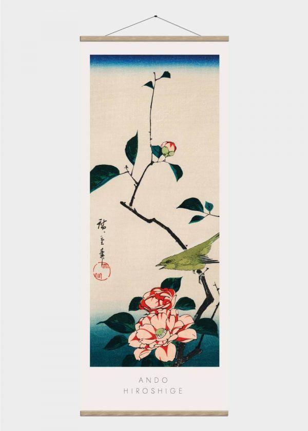 A japanese nightingale - Japansk kunst plakat