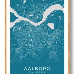 Aalborg plakat - blå