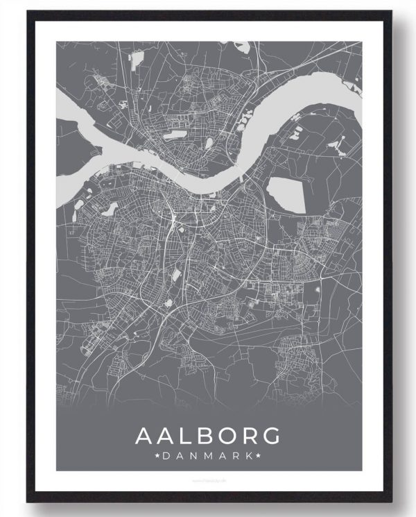 Aalborg plakat - grå