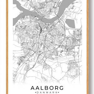 Aalborg plakat - hvid