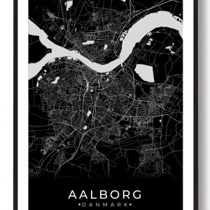 Aalborg plakat - sort