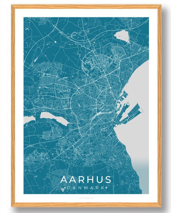 Aarhus plakat - blå