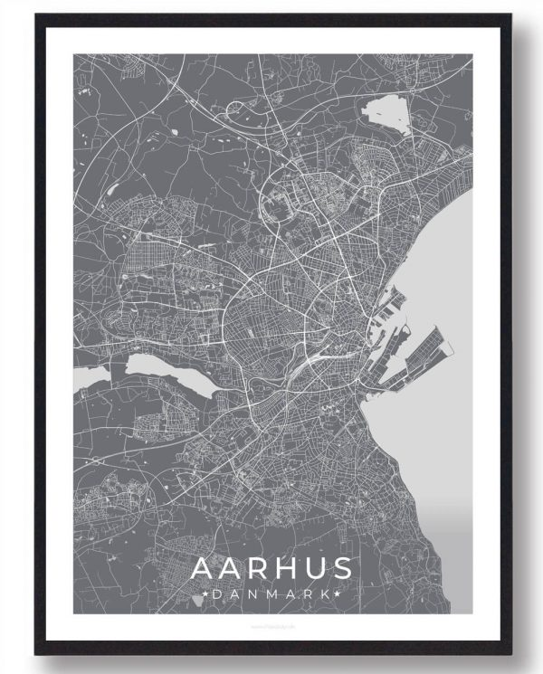 Aarhus plakat - grå