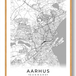 Aarhus plakat - hvid