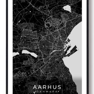 Aarhus plakat - sort