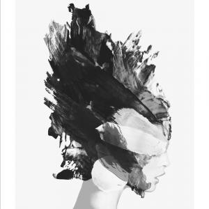 Abstract model plakat