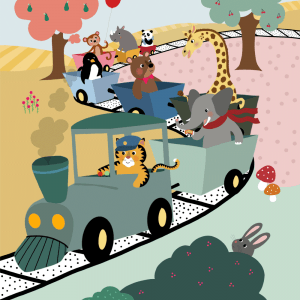 Adventure train - Børneplakat