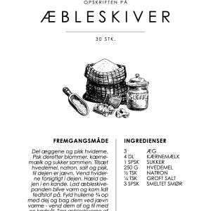 Æbleskiver opskrift - Kage guide plakat