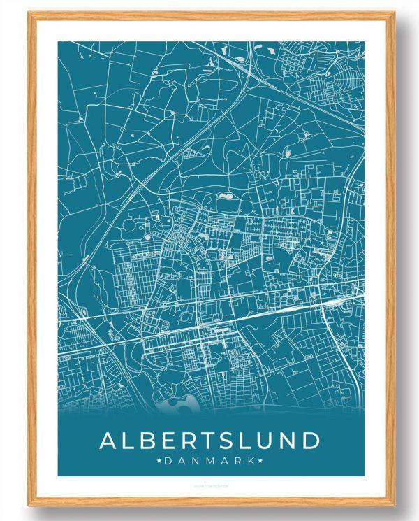 Albertslund plakat - blå