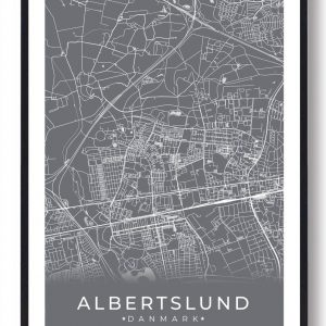 Albertslund plakat - grå
