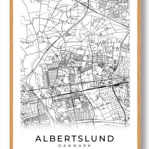 Albertslund plakat - hvid