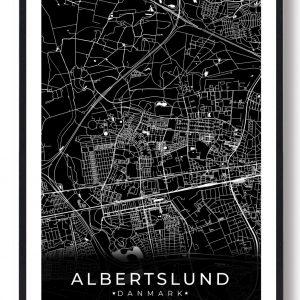 Albertslund plakat - sort