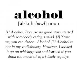 Alcohol definition - Men's Lounge plakat