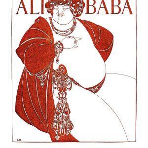 Ali Baba - Aubrey Beardsley kunstplakat