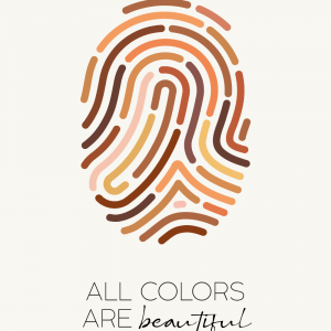 All colors are beautiful - plakat