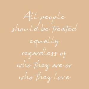 All people should treated equally - Pride plakat