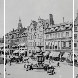 Amagertorv med Storkespringvandet - Gamle billeder af København plakat
