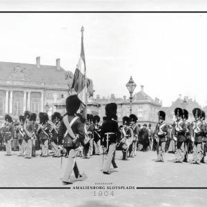 Amalienborg slotsplads - Gamle billeder af København plakat