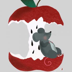 An apple a day - Børneplakat