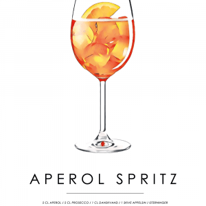 Aperol Spritz opskrift - Cocktail plakat