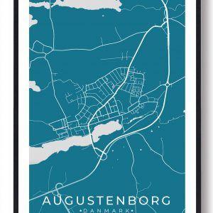 Augustenborg byplakat - blå