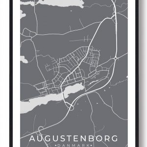 Augustenborg byplakat - grå
