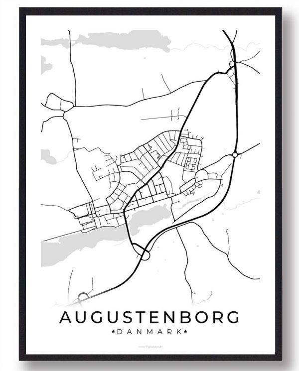 Augustenborg byplakat - hvid