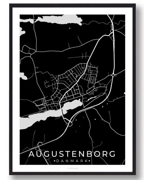 Augustenborg byplakat - sort