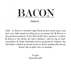 Bacon definition - plakat