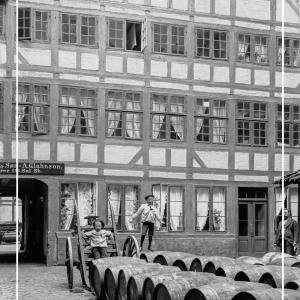 Baggård i Amaliegade - Gamle billeder af København plakat