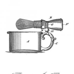Barberkrus med kost plakat - Original patent tegning