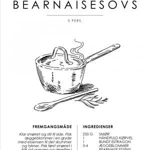 Bearnaisesovs opskrift - Sovse guide plakat