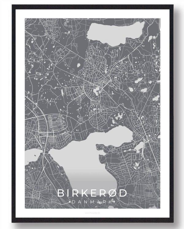 Birkerød plakat - grå