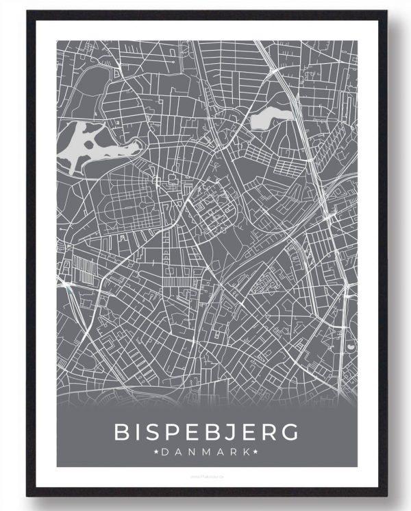 Bispebjerg plakat - grå