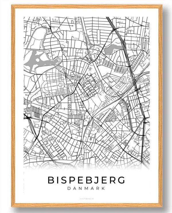 Bispebjerg plakat - hvid