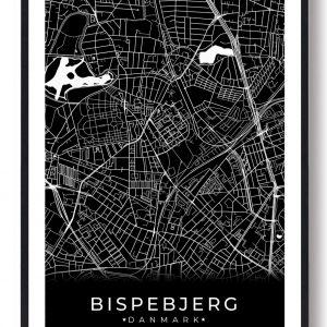 Bispebjerg plakat - sort