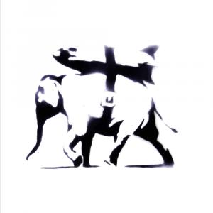 Bomb elephant - Banksy plakat