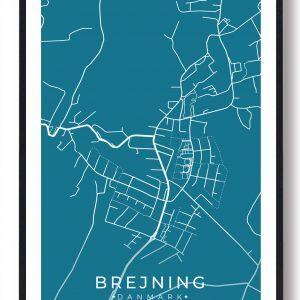 Brejning byplakat - blå