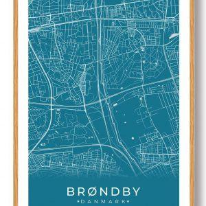 Brøndby plakat - blå
