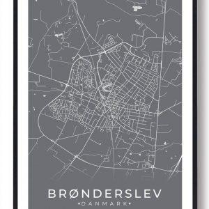 Brønderslev plakat - grå