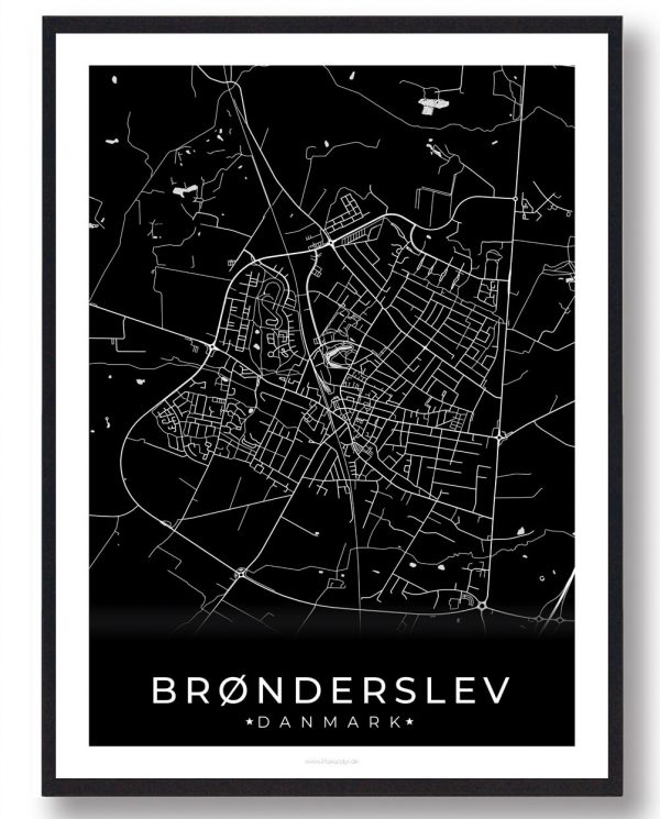 Brønderslev plakat - sort