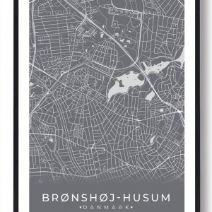 Brønshøj-Husum plakat - grå