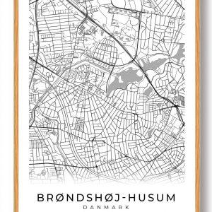 Brønshøj-Husum plakat - hvid