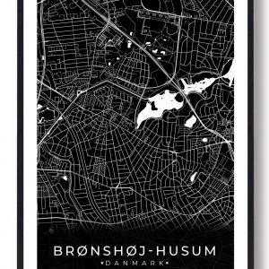 Brønshøj-Husum plakat - sort