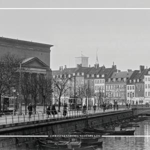 Christiansborgs slotsplads - Gamle billeder af København plakat