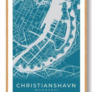 Christianshavn plakat - blå