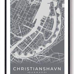 Christianshavn plakat - grå